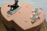torta svadobná dvojité srdce